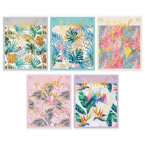 ArtSpace Упаковка тетрадей Цветы. Tropical floral Т48кФ_24438, 10 шт./5 дизайнов, клетка, 48 л., Тетради  - купить со скидкой