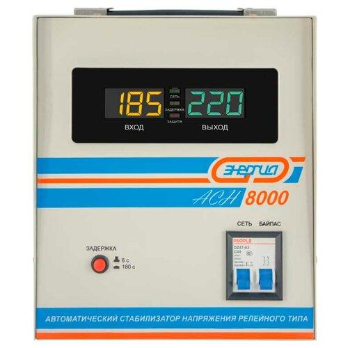 Стабилизатор напряжения однофазный Энергия ACH 8000 (2019) серый фото