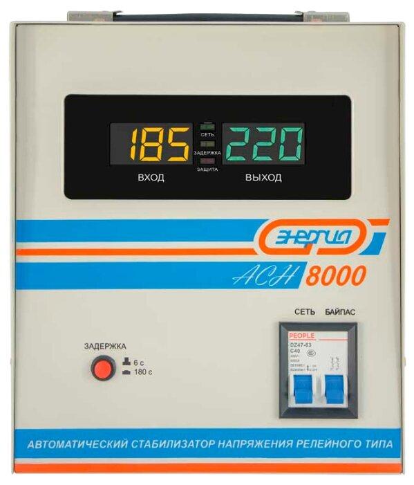 Стабилизатор напряжения однофазный Энергия ACH 8000 (2019)