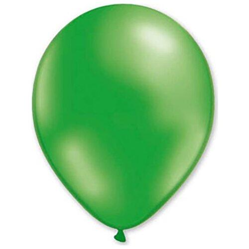 Набор воздушных шаров MILAND Металлик 31 см (100 шт.) зеленый