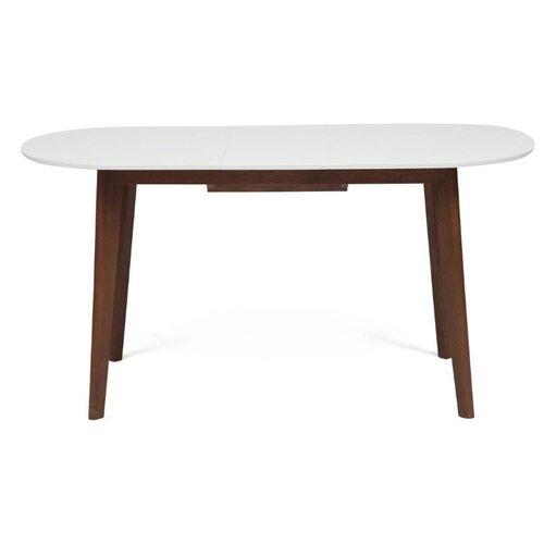 Стол кухонный TetChair Боско, раскладной, ДхШ: 120 х 80 см, длина в разложенном виде: 150 см, белый/коричневый стол tetchair brugge mod edt ve001 120 150х80х75 см