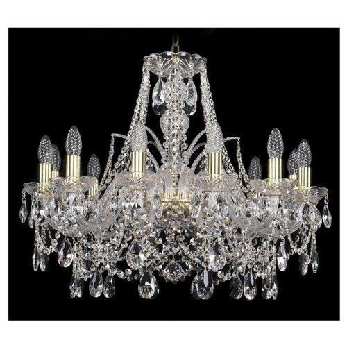 Люстра Bohemia Ivele Crystal 1411 1411/12/240/G, E14, 480 Вт bohemia ivele crystal подвесная люстра 1411 12 380 72 g