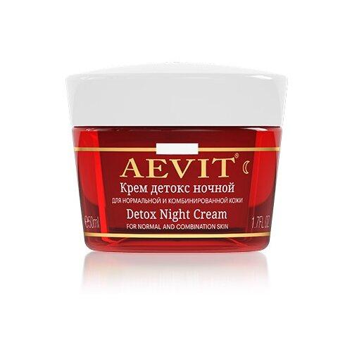 Фото - Aevit Ночной крем Детокс для лица для нормальной и комбинированной кожи, 50 мл aevit ночной крем для лица нормализующий для жирной кожи 50 мл