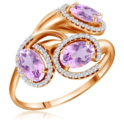 Бронницкий Ювелир Кольцо из красного золота Д0268-713009, размер 17 бронницкий ювелир кольцо из красного золота д0268 017060 размер 17