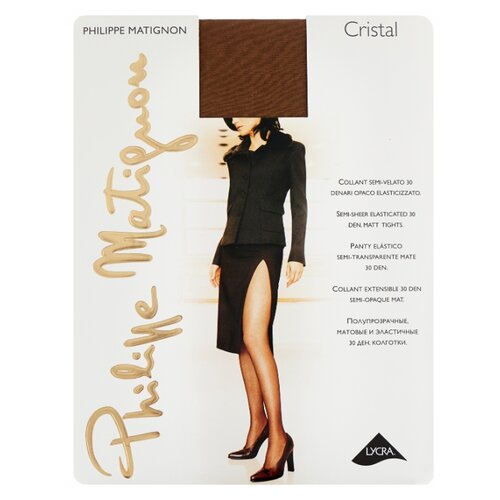 Колготки Philippe Matignon Cristal 30 den, размер 5-MAXI-XL, glace (бежевый) колготки philippe matignon cristal 30 den размер 5 maxi xl glace бежевый