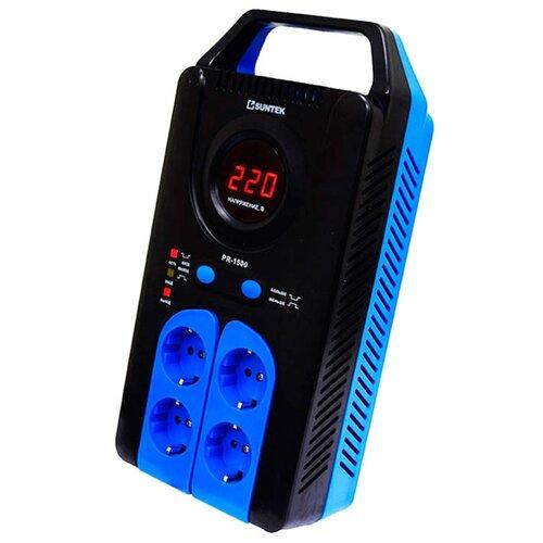 Стабилизатор напряжения однофазный SUNTEK PR-1500ВА черный/синий 0 pr на 100