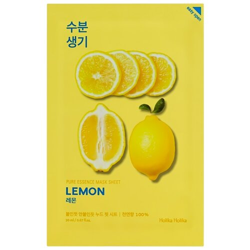 Фото - Holika Holika тонизирующая тканевая маска Pure Essence Лимон, 20 мл holika holika pure essence acai berry витаминизирующая тканевая маска ягоды асаи 20 мл