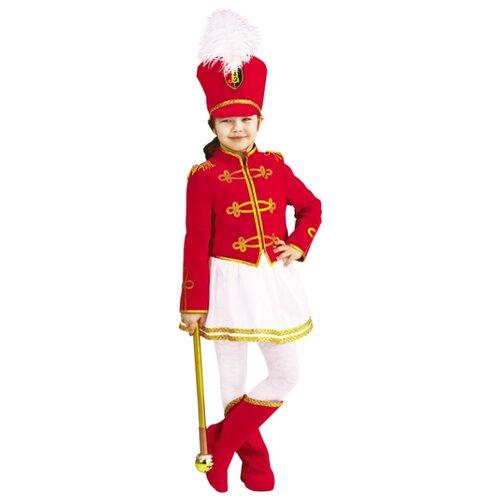 Купить Костюм Батик Мажоретка (1049 к-19), красный/белый/золотистый, размер 116-60, Карнавальные костюмы