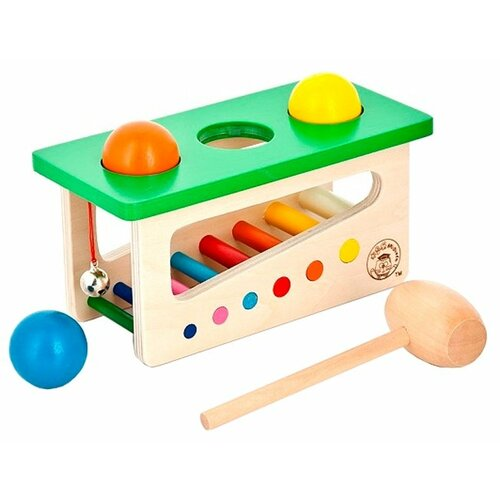 Стучалка Mapacha Забей шарик бежевый/зеленый набор развивающий для ребенка mapacha забей шарик