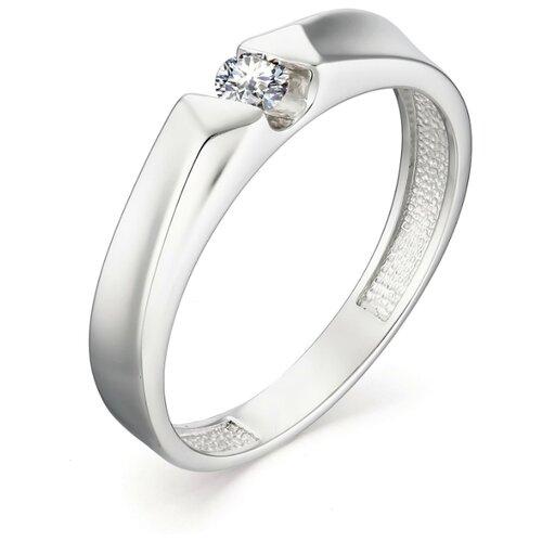 АЛЬКОР Кольцо с 1 бриллиантом из белого золота 13014-200, размер 17 алькор кольцо с 1 бриллиантом из белого золота 12869 200 размер 17 5