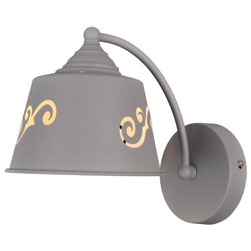 Настенный светильник Natali Kovaltseva Prime 75100/1W Stain Gray, 40 Вт бра natali kovaltseva 10783 1w florence white
