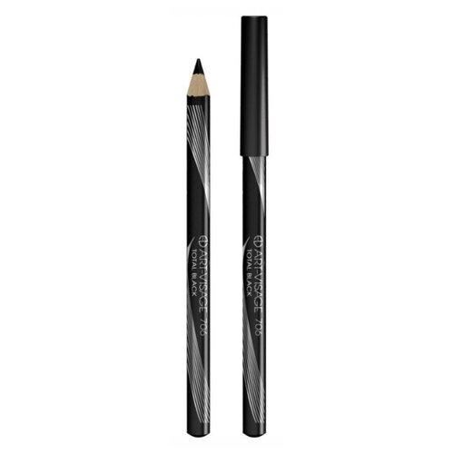 ART-VISAGE Высокопигментированный карандаш Total Black, оттенок 706