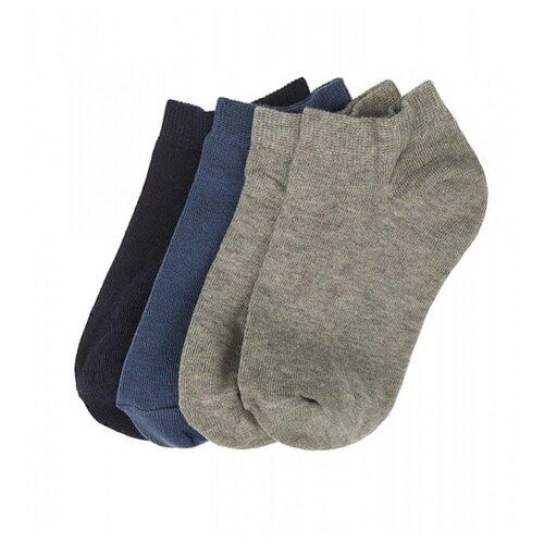 Купить Носки Oldos комплект 4 пары размер 32-34, синий/джинс/серый/серый