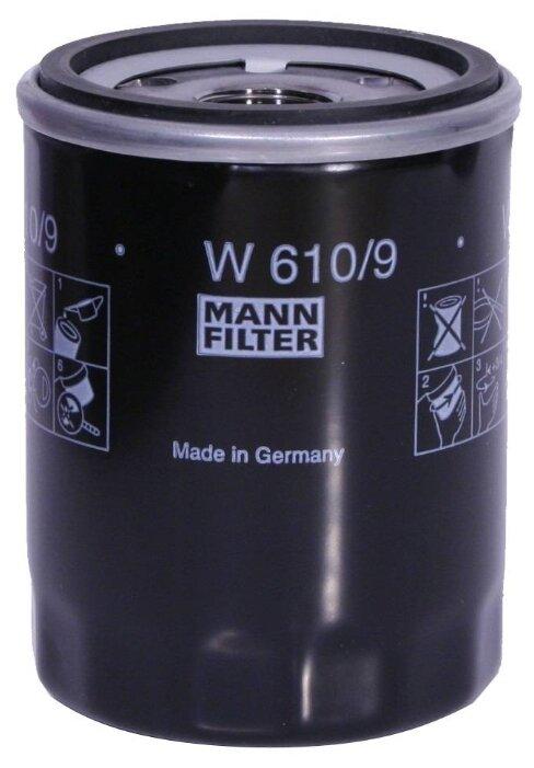 Масляный фильтр MANNFILTER W610/9