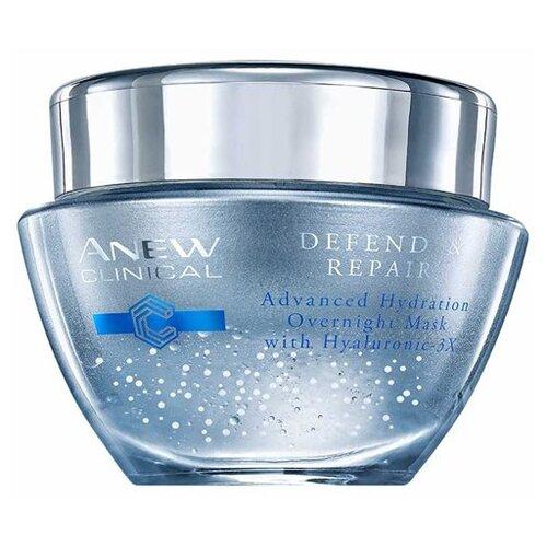 Маска Avon Anew Clinical Defend & Repair Advanced Hydration Overnight Mask ночная Защита и Восстановление для лица, 50 мл