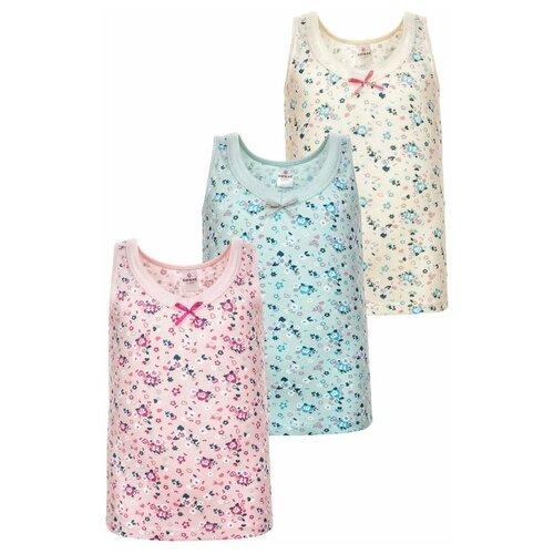 Купить Майка BAYKAR 3 шт., размер 158/164, молочный/голубой/розовый, Белье и купальники