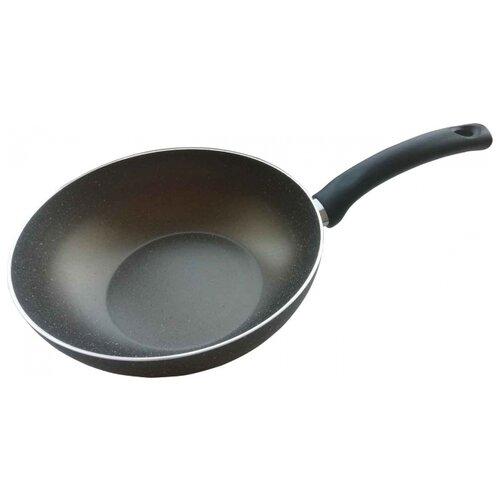 Сковорода-вок Mehtap Кварц 114-24 24 см, черный сковорода d 24 см kukmara кофейный мрамор смки240а