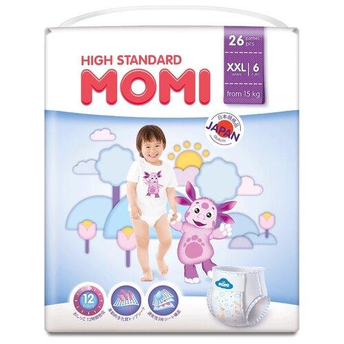 Momi трусики High Standard XXL (от 15 кг) 26 шт. momi трусики m 6 10 кг 44 шт
