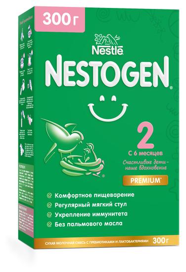 Купить Смесь Nestogen (Nestlé) 2, с 6 месяцев, 300 г по низкой цене с доставкой из Яндекс.Маркета