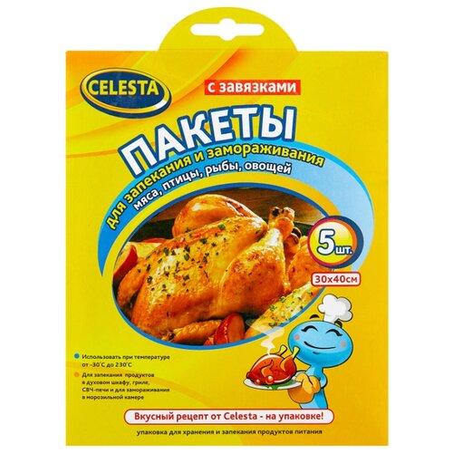 цена на Пакеты Celesta для запекания и замораживания, 40 см х 30 см, 5 шт