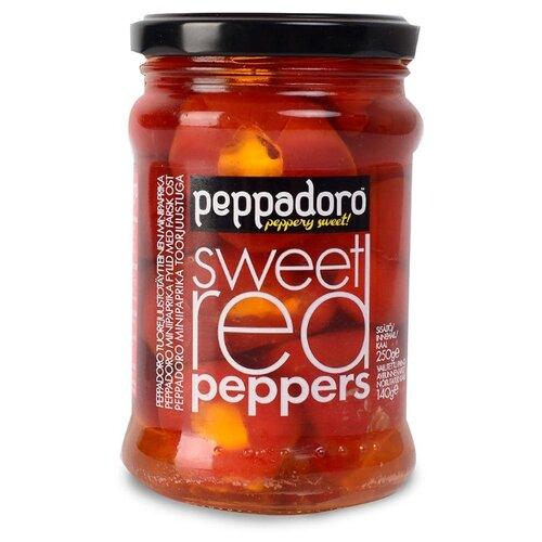 Перец красный сладкий фаршированный сыром Peppadoro 250 г