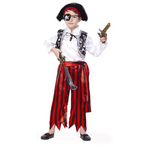 Купить Костюм ВКостюме.ру Главарь пиратов (3853183), красный/черный/белый, размер 128, Карнавальные костюмы