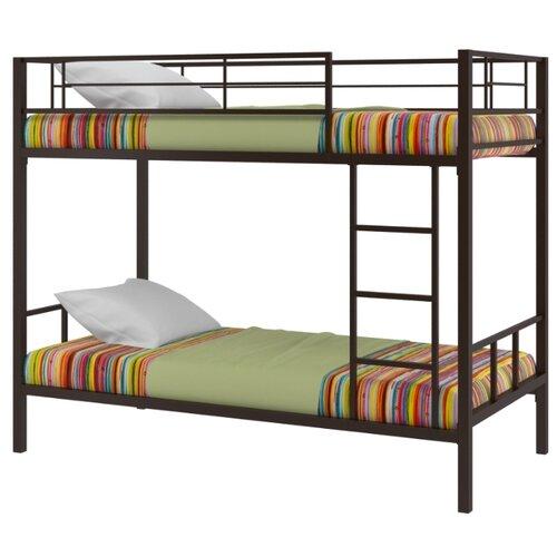 Двухъярусная кровать Redford Севилья-2, размер (ДхШ): 198х96 см, спальное место (ДхШ): 190х90 см, каркас: металл, цвет: коричневый