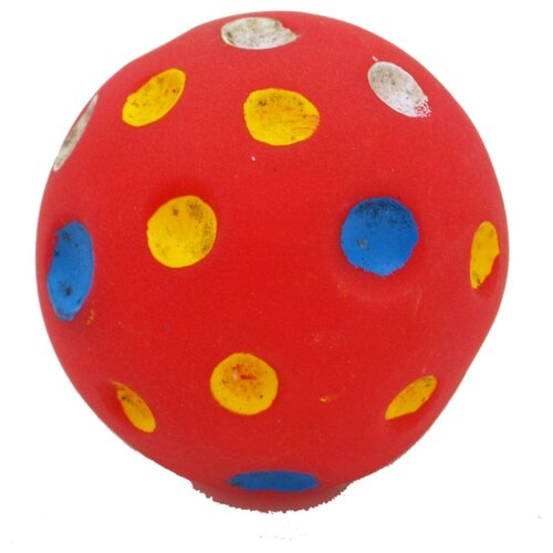 Мячик для кошек и собак КАСКАД Мяч Луна (27754625) красный