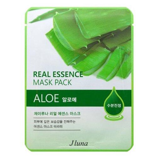 Фото - Juno тканевая маска Real Essence Mask Pack с алоэ, 25 мл маска тканевая juno j luna q10 для лица 3 шт 25 мл