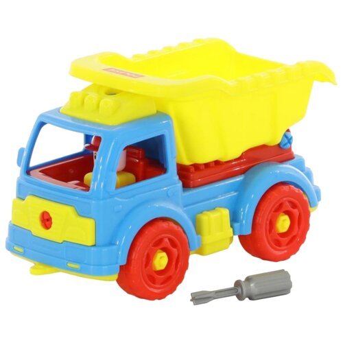 Фото - Конструктор Полесье Транспорт 73006 Автомобиль-самосвал полесье набор игрушек для песочницы 468 цвет в ассортименте