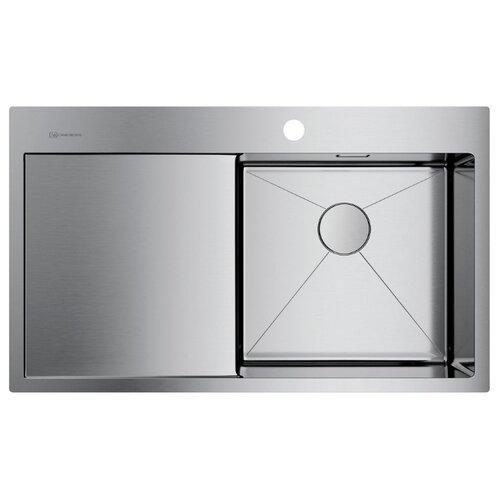 Фото - Врезная кухонная мойка 86 см OMOIKIRI Akisame 86-IN-R нержавеющая сталь врезная кухонная мойка 65 см omoikiri akisame 65 in r нержавеющая сталь