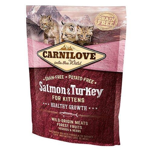 Сухой корм для кошек Carnilove беззерновой, с лососем, с индейкой 400 г