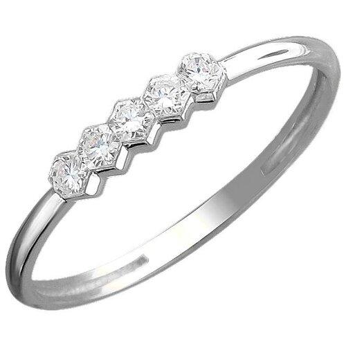 Эстет Кольцо с 5 бриллиантами из белого золота 01К6211508Z, размер 17.5