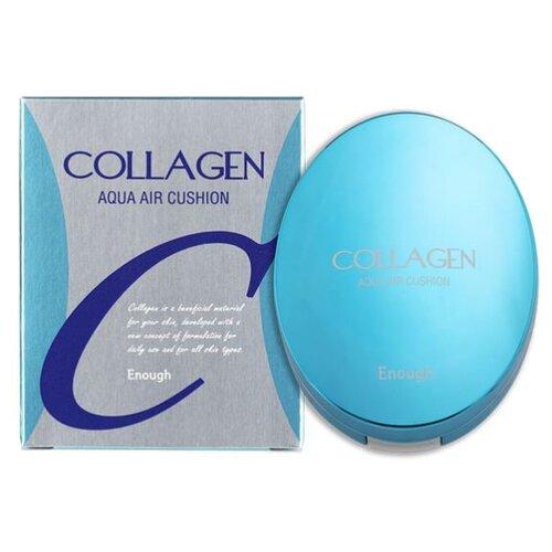 Enough Тональный крем Collagen Aqua Air Cushion, 15 г, оттенок: тон №13 корейская косметика enough collagen