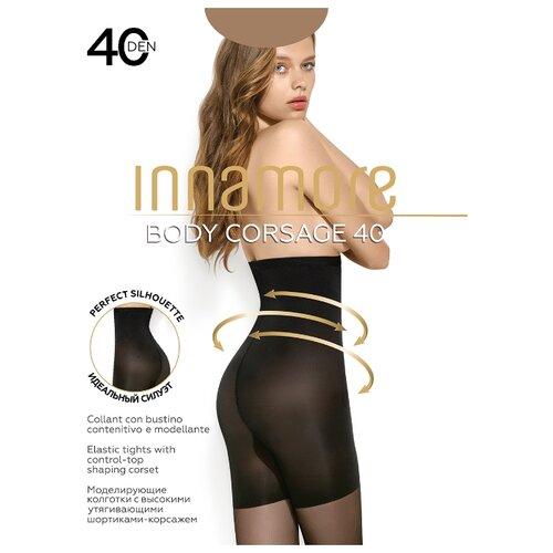 Колготки Innamore Body Corsage 40 den, размер 3-M, daino (бежевый) колготки innamore body slim 40 den размер 5 xl daino бежевый