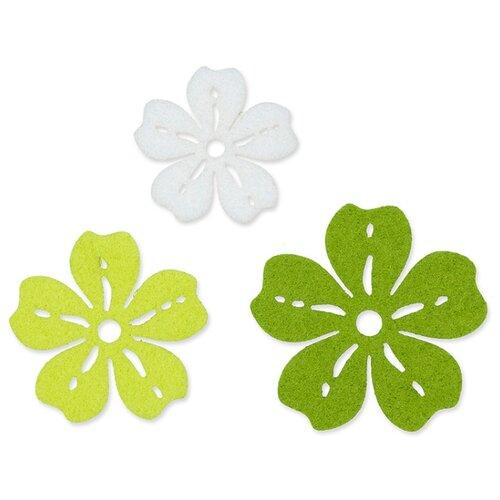 Купить Набор декоративных элементов Цветы фетр 6 шт, Efco, Украшения и декоративные элементы