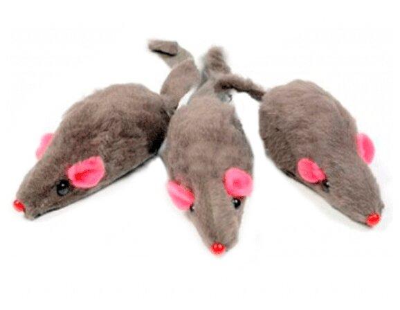 Мышь для кошек Triol серая 3 шт (М003NG/22161029)