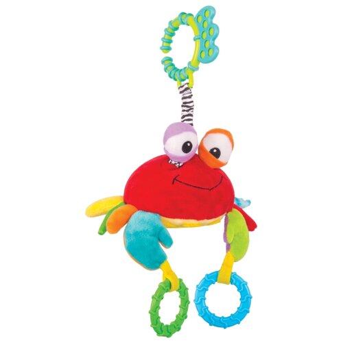 Купить Подвесная игрушка Happy Snail Краб Чарми (14HS013PK) красный/желтый/зеленый, Подвески