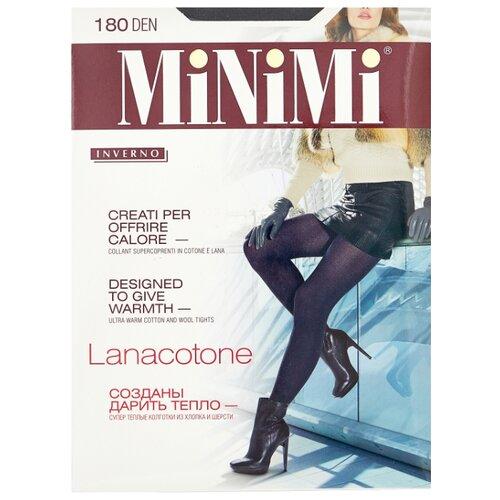 Колготки MiNiMi Lanacotone 180 den, размер 2-S/M, nero (черный) колготки minimi lanacotone 180 den размер 4 l nero черный