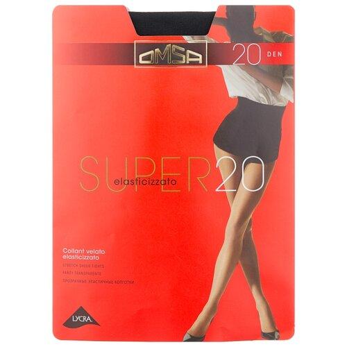 Колготки Omsa Super 20 den, размер 4-L, nero (черный) колготки omsa fantastico 20 den размер 4 l nero черный