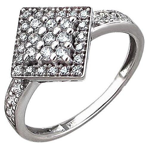 Эстет Кольцо с 35 фианитами из серебра 01К1510760, размер 17.5 фото