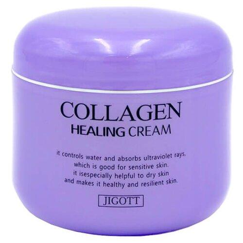 Jigott Collagen Healing Cream Ночной омолаживающий лечебный крем для лица с коллагеном, 100 мл