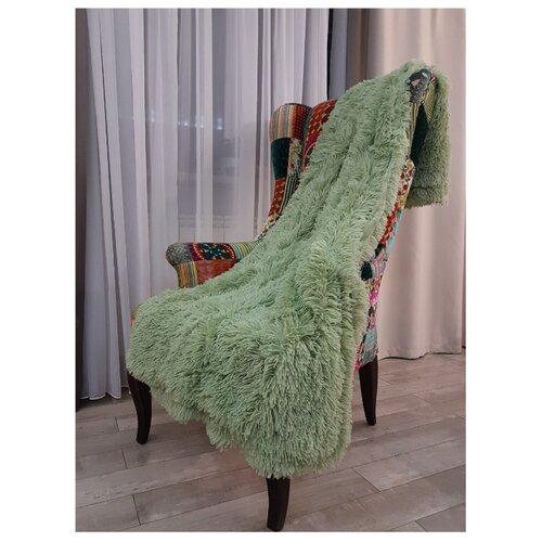 Покрывало ТД Коллекция П463222, 220 x 240 см серо-зеленыйПледы и покрывала<br>