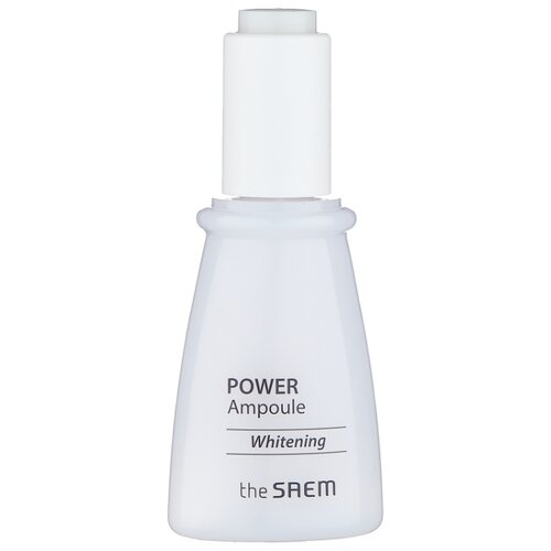 The Saem Power Ampoule Whitening Сыворотка осветляющая для лица, 35 мл трехфазное средство для увлажнения the saem the essential triplus hydrating ampoule 30мл