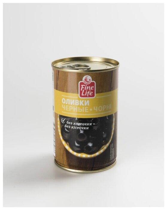 Fine Life Оливки черные без косточки, 300 г