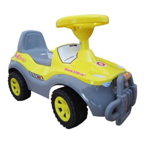 Купить Каталка-толокар Orion Toys Джипик (105) со звуковыми эффектами желтый, Каталки и качалки