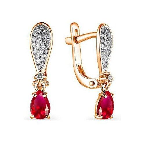 Фото - АЛЬКОР Серьги с рубинами и бриллиантами из красного золота 23410-103 алькор серьги с рубинами и бриллиантами из красного золота 23503 103