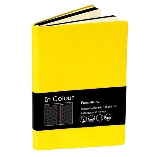 Ежедневник Listoff In Colour недатированный, искусственная кожа, А5, 136 листов, желтый