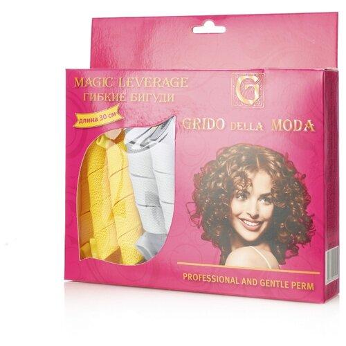 Гибкие бигуди Grido della Moda FL-1 (25 мм) 18 шт. желтый/белый