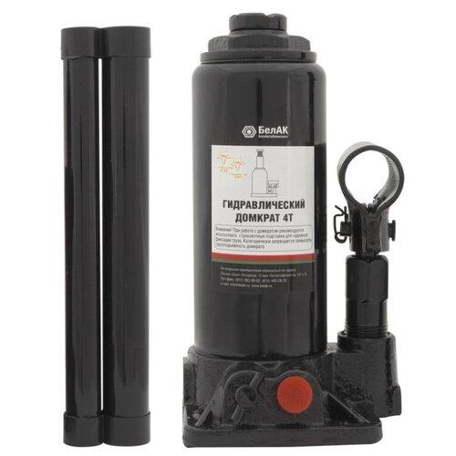 Домкрат бутылочный гидравлический БелАвтоКомплект БАК.00028 (4 т) черный домкрат бутылочный гидравлический белавтокомплект бак 10039 2 т черный